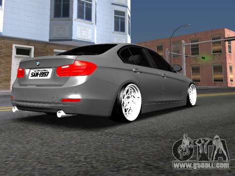 BWM F30 335i Stance for GTA San Andreas left view