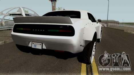 Dodge Challenger SRT Hellcat Rocket Bunny 2015 for GTA San Andreas right view