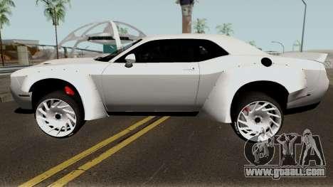 Dodge Challenger SRT Hellcat Rocket Bunny 2015 for GTA San Andreas left view