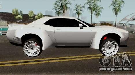 Dodge Challenger SRT Hellcat Rocket Bunny 2015 for GTA San Andreas back view