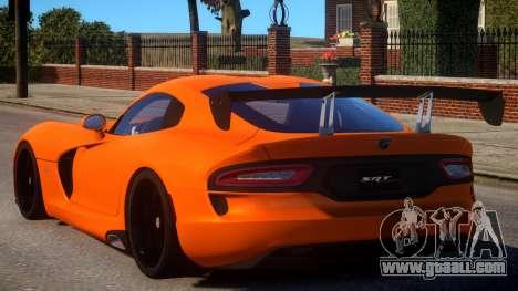Dodge Viper 2013 for GTA 4