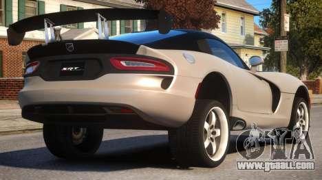 Dodge Viper 2013 PJ4 for GTA 4