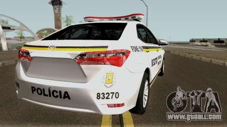 Toyota Corolla Brazilian Police for GTA San Andreas right view
