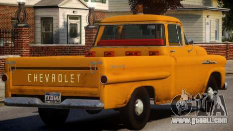 1958 Chevrolet Apache Used for GTA 4