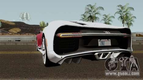 Bugatti Chiron for GTA San Andreas back left view