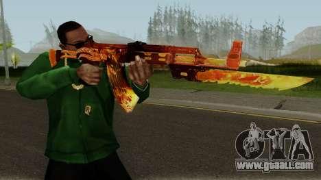 Rules Of Survival AK47 for GTA San Andreas third screenshot
