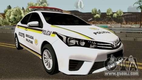 Toyota Corolla Brazilian Police for GTA San Andreas inner view
