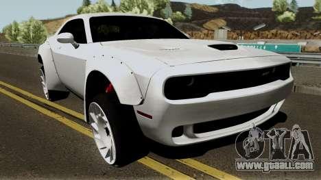 Dodge Challenger SRT Hellcat Rocket Bunny 2015 for GTA San Andreas inner view