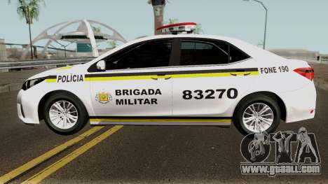 Toyota Corolla Brazilian Police for GTA San Andreas left view