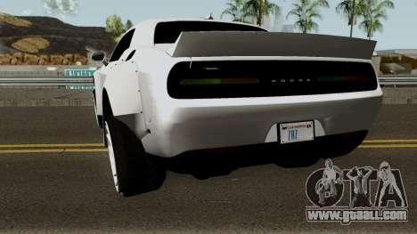 Dodge Challenger SRT Hellcat Rocket Bunny 2015 for GTA San Andreas back left view