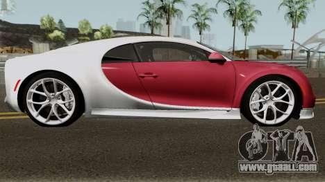 Bugatti Chiron for GTA San Andreas back view