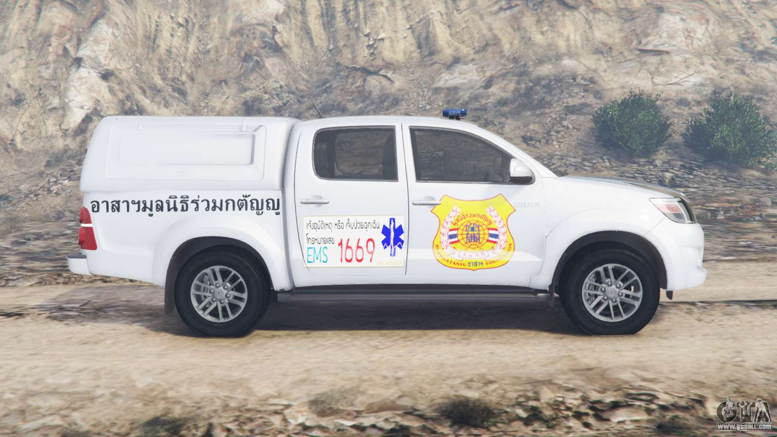 Brute Double Cab >> Toyota Hilux Double Cab 2012 Thai Ambulance for GTA 5