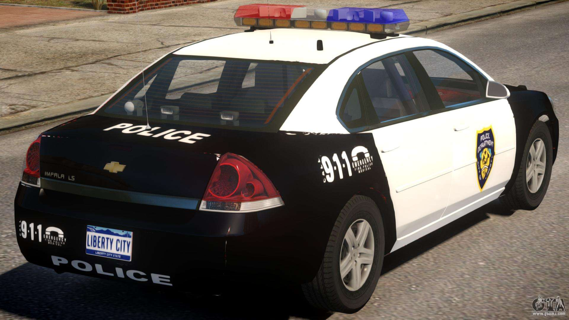 2012 chevrolet impala police for gta 4. Black Bedroom Furniture Sets. Home Design Ideas