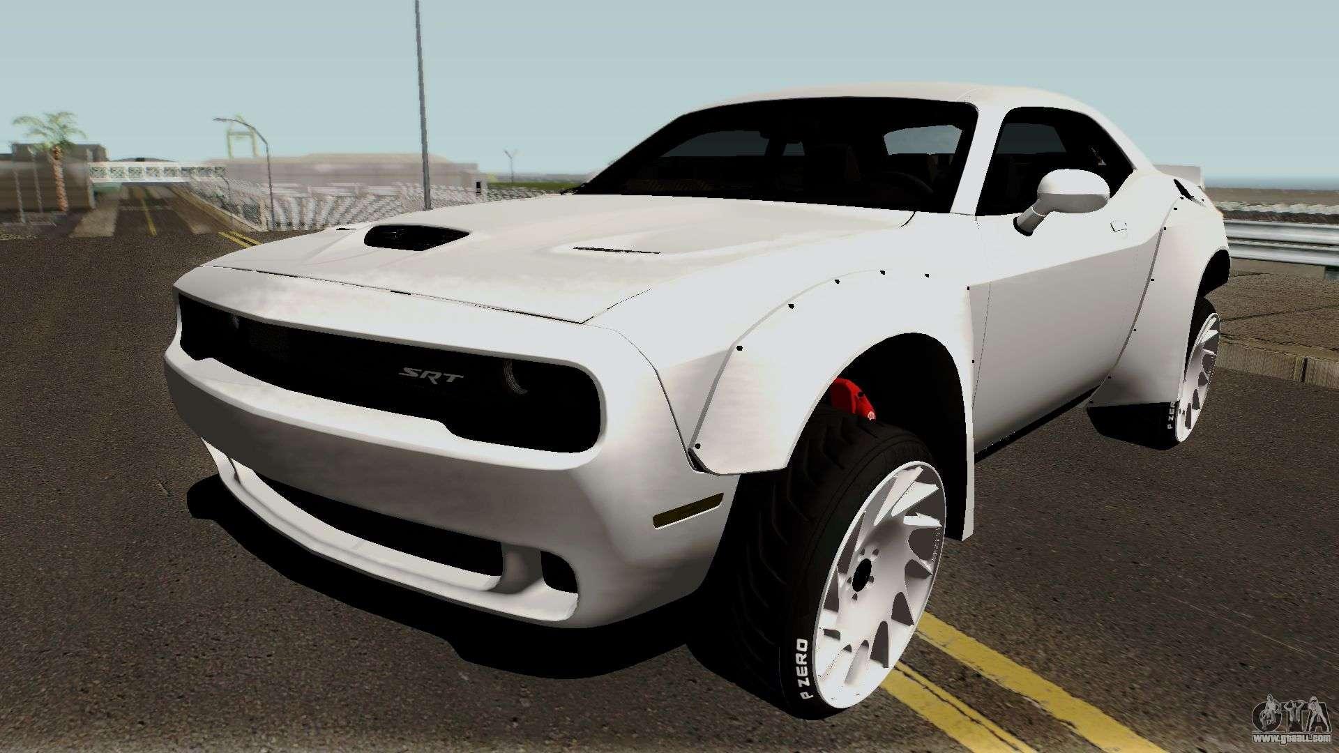 Dodge Challenger SRT Hellcat Rocket Bunny 2015 for GTA San Andreas
