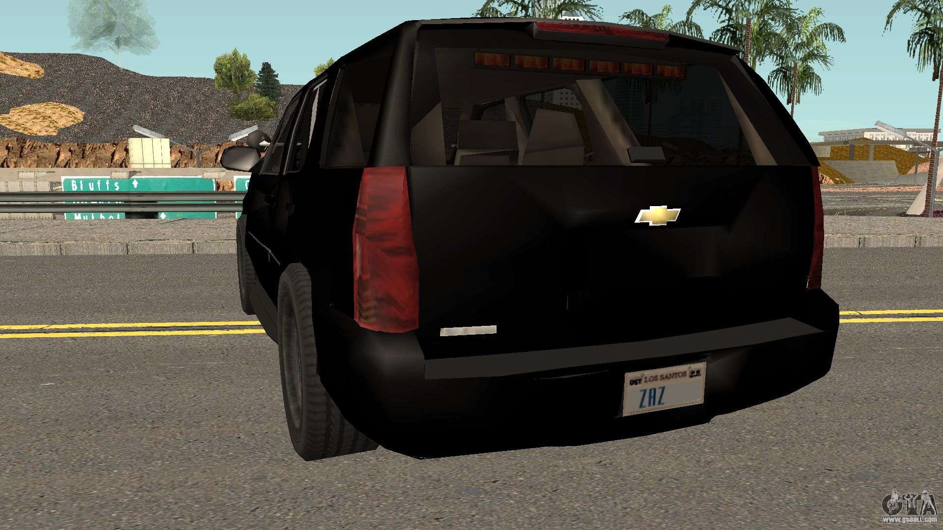 Chevrolet Tahoe SUV (Police Livery) Low-poly for GTA San ...