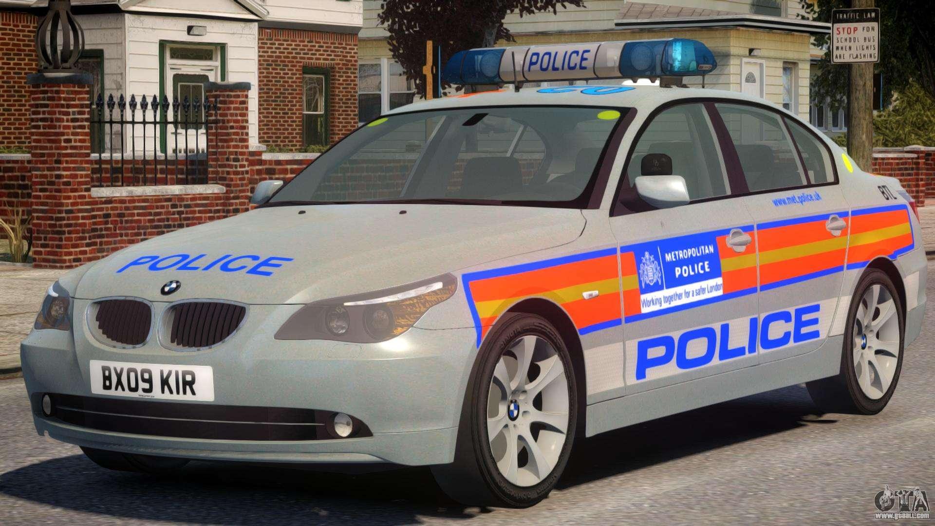 bmw 525d e60 met police for gta 4. Black Bedroom Furniture Sets. Home Design Ideas