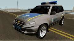 Chevrolet Niva GLC 2009 Ukraine Police Gray for GTA San Andreas