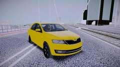 Skoda Rapid Yellow for GTA San Andreas