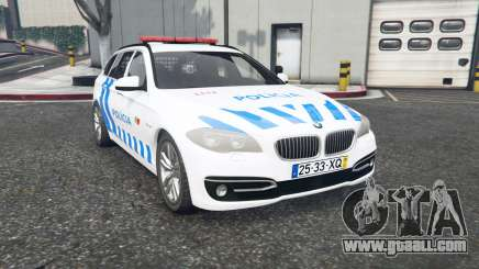 BMW 530d Touring (F11) Portuguese Police v1.1 for GTA 5