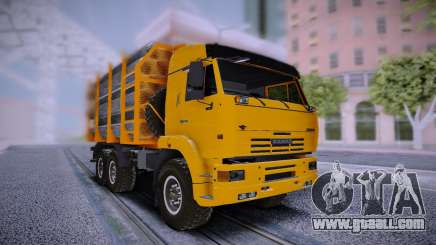 KAMAZ 6460 Truck with pipes for GTA San Andreas