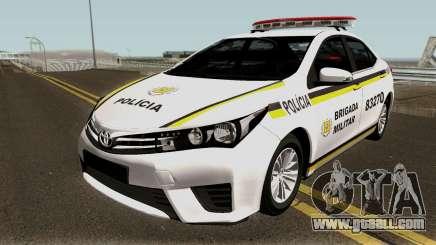 Toyota Corolla Brazilian Police for GTA San Andreas