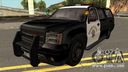 Declasse Granger SAHP Police GTA V for GTA San Andreas