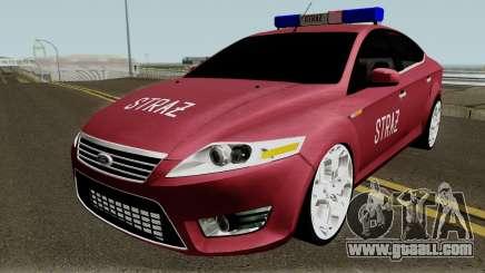 Ford Mondeo Polskiej Strazy Pozarnej for GTA San Andreas