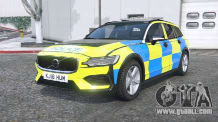 Volvo V60 T6 2018 Police [ELS] [replace] for GTA 5