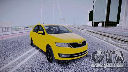 Skoda Rapid Yellow for GTA San Andreas