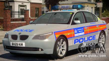 BMW 525D E60 Met Police for GTA 4