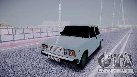 VAZ 2107 White for GTA San Andreas