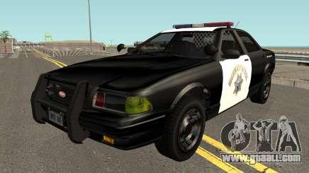 Vapid Stainer SAHP Police GTA V IVF for GTA San Andreas