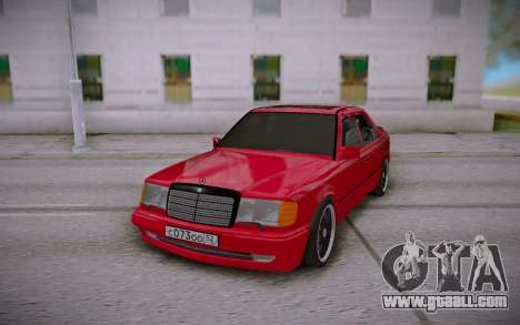 Mercedes-Benz E500 W124 Brabus for GTA San Andreas back view