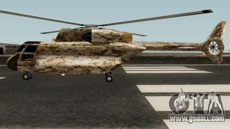 Retexture Cargobob for GTA San Andreas left view