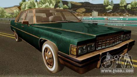 Cadillac Fleetwood Beaten 1985 v1 for GTA San Andreas inner view