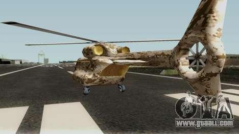 Retexture Cargobob for GTA San Andreas back left view