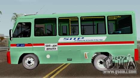 Buseta Mazda T for GTA San Andreas left view