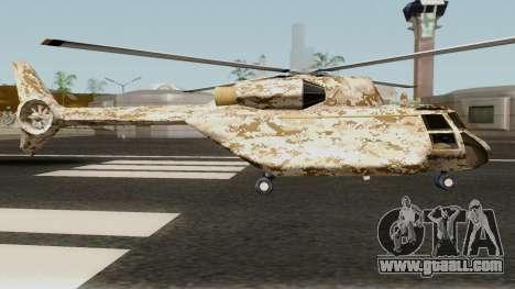 Retexture Cargobob for GTA San Andreas back view