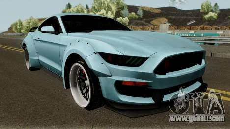 Ford Mustang Shelby GT350R Liberty Walk 2016 for GTA San Andreas inner view