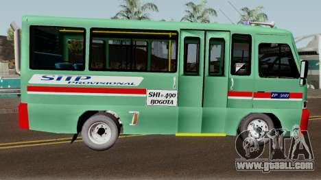 Buseta Mazda T for GTA San Andreas back view