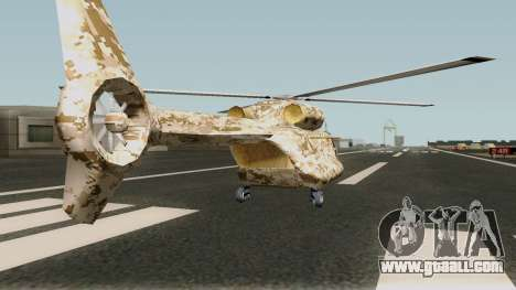 Retexture Cargobob for GTA San Andreas right view