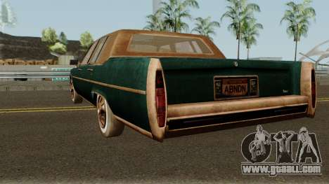 Cadillac Fleetwood Beaten 1985 v1 for GTA San Andreas back left view