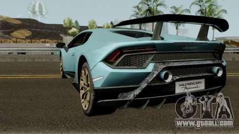 Lamborghini Huracan Perfomante 2017 for GTA San Andreas