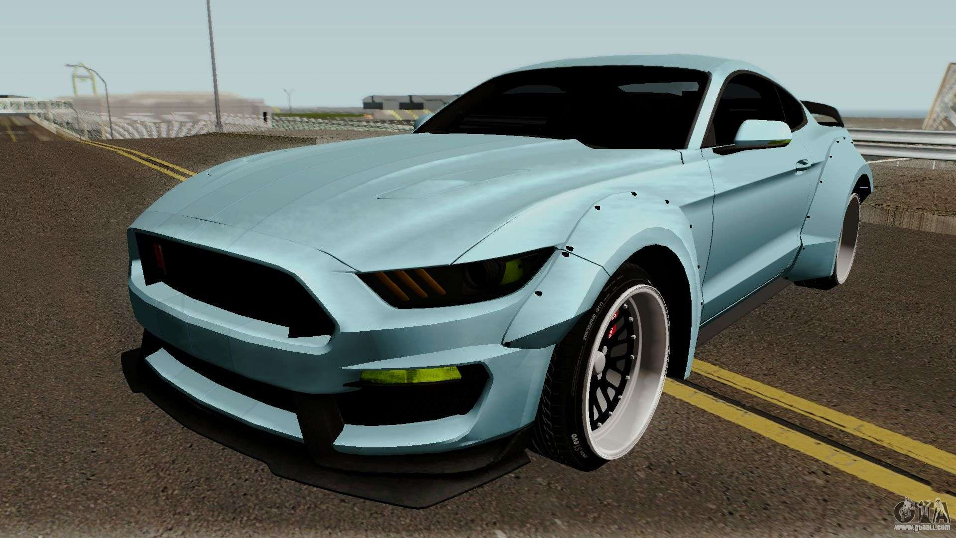 Ford Mustang Shelby Gt350r Liberty Walk 2016 For Gta San Andreas