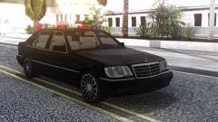 Mercedes-Benz W140 Black for GTA San Andreas
