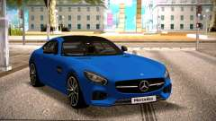Mercedes-Benz GTS Blue for GTA San Andreas