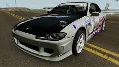 Nissan Silvia S15 Itasha Sayo and Lisa 2000 for GTA San Andreas