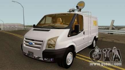 Ford Transit News Car (FOX TV) for GTA San Andreas