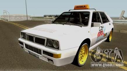 Lancia Delta Integrale HF - School Driving 1989 for GTA San Andreas