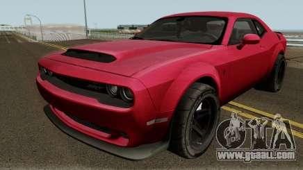 Dodge Challenger SRT Demon 2018 for GTA San Andreas